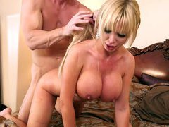 Pornstar Nikki Benz getting pounded doggy style