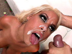 Bridgette B receiving an amazing facial cumshot