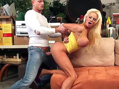 Nikita Von James getting her pussy slammed doggie
