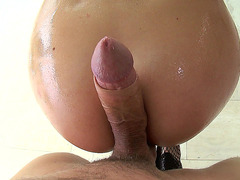 Chanel Preston gets her throat fucked by a large prick
