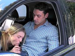Natalia Starr sucking hard dick in the car