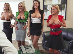 Krissy, Tanya, Chanel and Nicole showing their tits