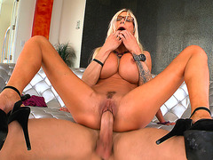 Puma Swede loves riding meaty cock reverse cowgirl