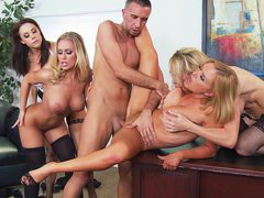 Krissy, Tanya, Chanel and Nicole getting fucked