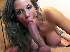 Rebecca More loves sucking big fat cock