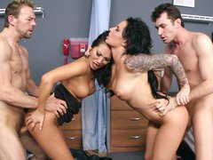 Asa Akira and Christy Mack getting screwed