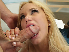 Shyla Stylez got on her knees and sucked that cock