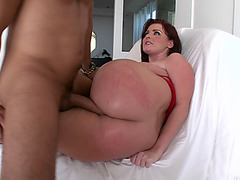 Big ass bitch Sophie Dee gets her fat cunt destroyed by a king size cock