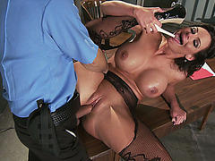Big tits babe Phoenix Marie getting her wet cunt banged out