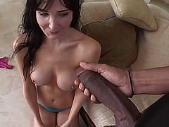 Hot babe Diana Prince shocked as she saw biggest cock in her life