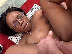Jayden Starr getting fucked piledriver style and receiving monster load of jizz on her face