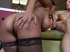 Fucking hot pornstar Priya Rai riding big shlong and taking it in her mouth