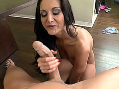 Sex hungry MILF Ava Addams sucking and riding fat shlong