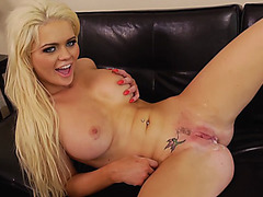 Alexis Ford takes massive load of cum inside her pink pussy