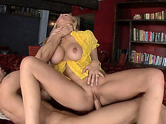Crazy hot MILF Julia Ann letting Chris go crazy on her pussy from every angle
