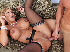 Ava Devine got her ass drilled as her huge melons bounced around