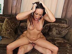Super hot MILF Michelle Lay takes his young cock balls deep in her cunt
