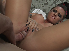 Young slut Christy Mack plowed hard and deep on the floor
