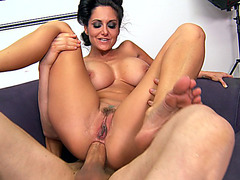 Amazing MILF Ava Addams rides huge meaty cock anal reverse cowgirl