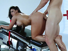 Amazing girl Audrey Bitoni fucks his big cock doggy style