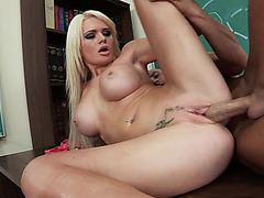 Busty blonde slut Alexis Ford takes big cock from the rear