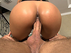 Big ass latina Abella Anderson bounces on a huge hard shaft