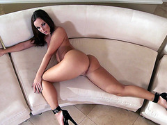 Jada Stevens in a high heels teasing on camera