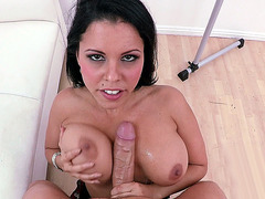 Diamond Kitty gets her big tits fucked by a stiff pole