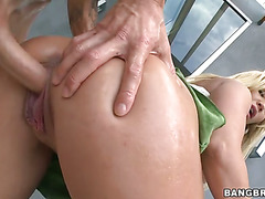 Austin Taylor bent over getting some dick from behind