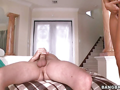 Rachel Starr climbs on top of him and rides
