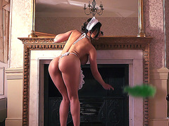 Aletta Ocean seducing VIP guest in the hotel