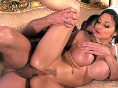 Aletta Ocean having anal sex in spoon