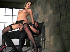 Hot slut Mia Malkova riding large dick