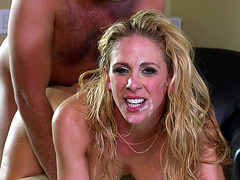 Cherie DeVille having sex with a cum on her face