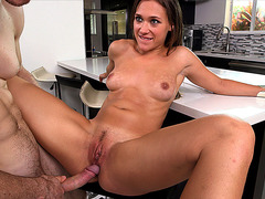 Callie Calypso getting fucked on the bar stool