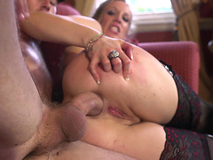 Rebeca More takes extra fat cock in her ass