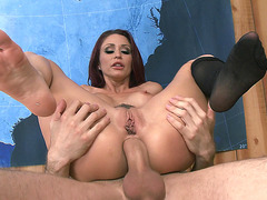 Monique Alexander takes big fat cock in her ass