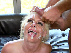 Phoenix Marie receiving two facials