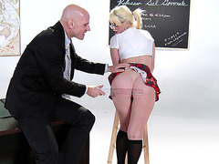 Alexis Ford lets him slap her ass in the classroom