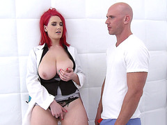 Busty doctor Siri seducing her patient