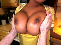 Sierra Santos gets her huge natural DDs worshipped