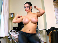 Aletta Ocean has big silicone breasts