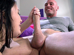 Daisy Summers works all over his shaft