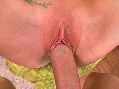 Christie Stevens gets her snatch drilled POV style