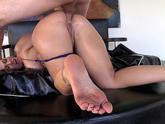 Madison Rose takes his prick in her ass doggy style