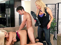 Bridgette B and Nikki Benz getting fucked in a 3some