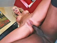 Phoenix Marie anally riding black cock