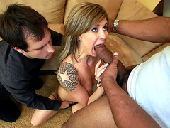 Chloe Chaos sucking with her husband