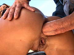 Jada Stevens gets her ass fucked outdoor