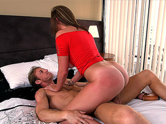 Young slut Brooke Wylde slips his cock into her wet pussy